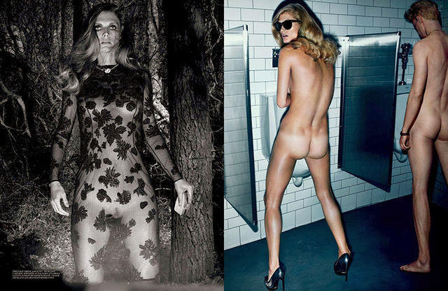 models Malgosia Bela 23 years unclad photography in the club