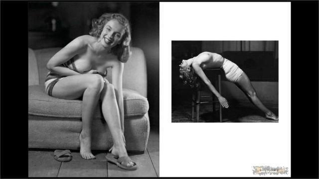 celebritie Marilyn Monroe 2015 naked photoshoot in the club