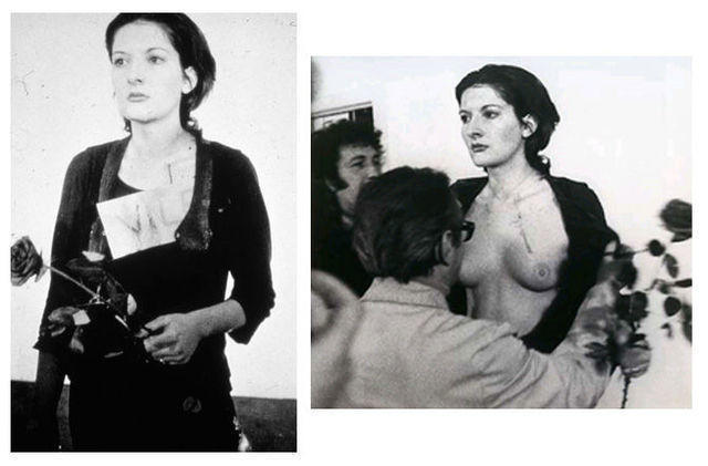 celebritie Marina Abramovic teen unsheathed photo in public