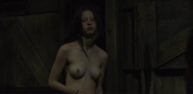 actress Mia Goth young romantic art in the club
