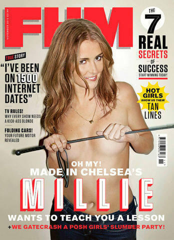 actress Millie Mackintosh 18 years obscene photo home