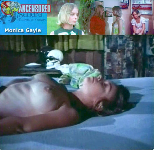 celebritie Monica Gayle 24 years naturism foto home