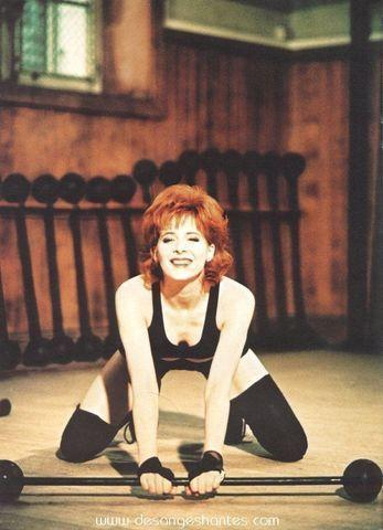 Mylène Farmer topless photoshoot
