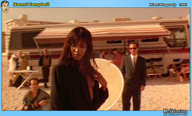 celebritie Naomi Campbell 22 years salacious photo beach