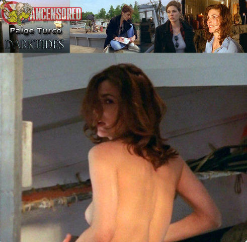 models Paige Turco 21 years unclad photo beach