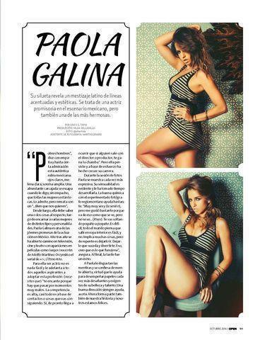 celebritie Paola Galina young arousing photos in the club