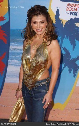 actress Paula Abdul 21 years natural image beach