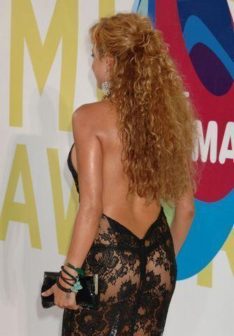 actress Paulina Rubio 19 years in the altogether photography in public