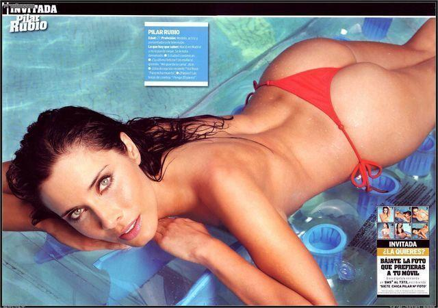 models Pilar Rubio 20 years lascivious picture in the club