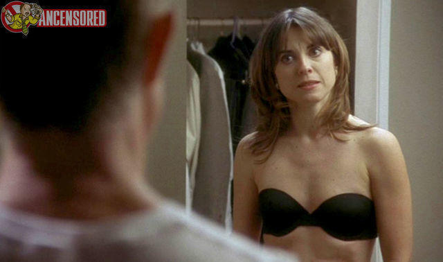 actress Rebecca Pidgeon 18 years Without bra picture in the club
