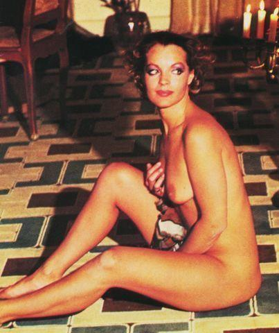 actress Romy Schneider 22 years mammilla image in public