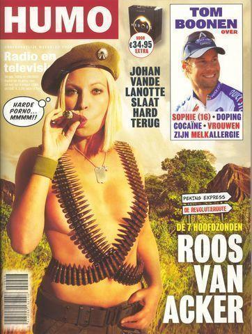 models Roos Van Acker 21 years naturism photos home