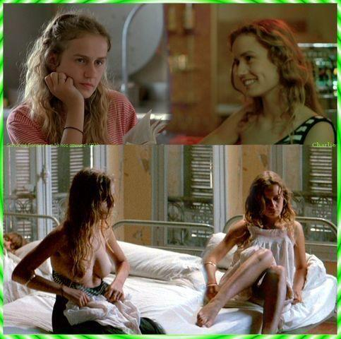 Sandrine Bonnaire topless art