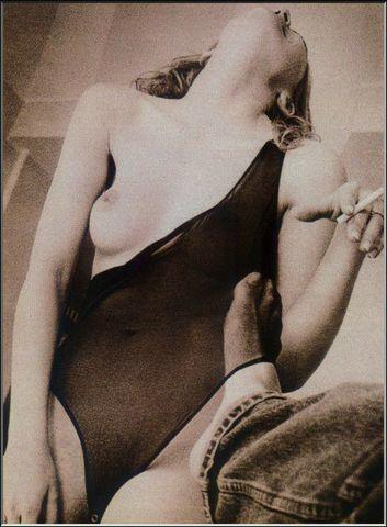 actress Sharon Stone 21 years indecent art beach