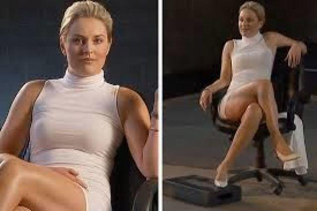 models Sharon Stone 21 years fervid image in public