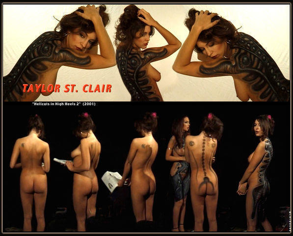 actress Taylor St. Clair 20 years nude art picture in the club