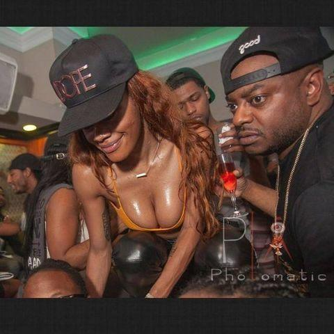 models Teyana Taylor 19 years in one's birthday suit picture in the club