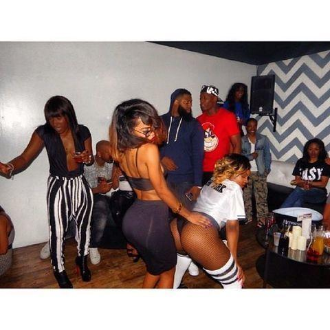 models Teyana Taylor 2015 uncovered photos in the club