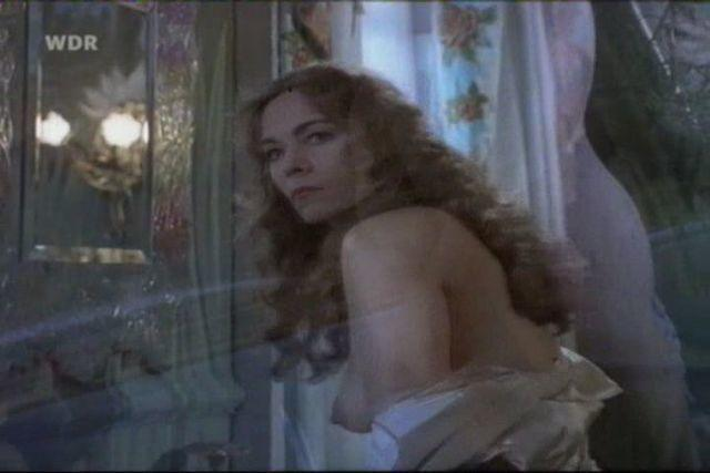 actress Theresa Russell young leafless snapshot in public