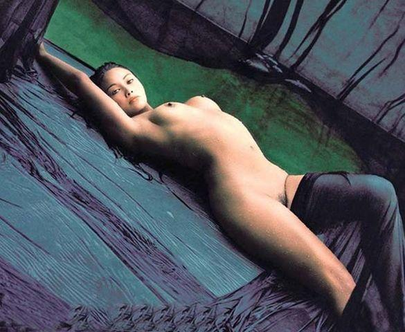 Tia Carrere topless photography