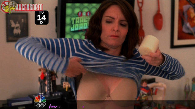actress Tina Fey young risqué art in the club
