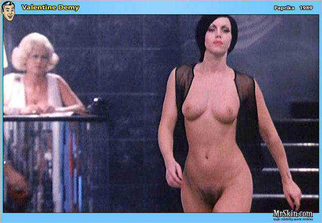 models Valentine Demy 22 years k-naked image in public