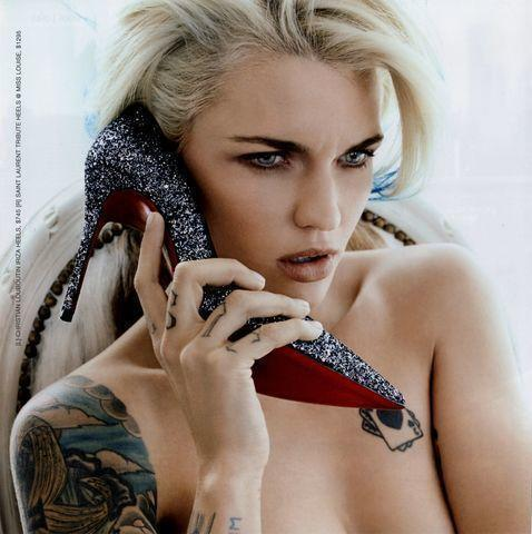 models Ruby Rose young buck naked snapshot in public
