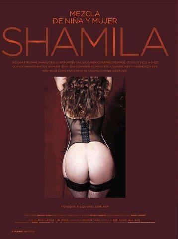 models Shamila 21 years Without camisole art in public