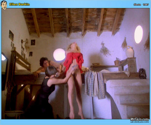 actress Ellen Barkin 22 years unclad photoshoot beach