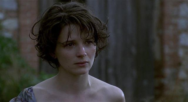 celebritie Juliette Binoche 23 years provocative image home