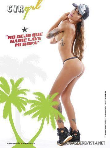 celebritie Erika Fernandez 25 years disclosed image beach