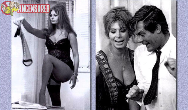 celebritie Sophia Loren 21 years risqué photoshoot in the club