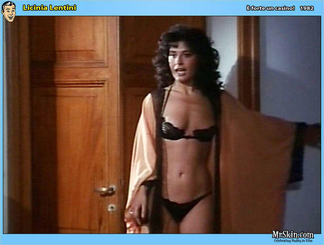 actress Licinia Lentini 18 years Without bra picture beach
