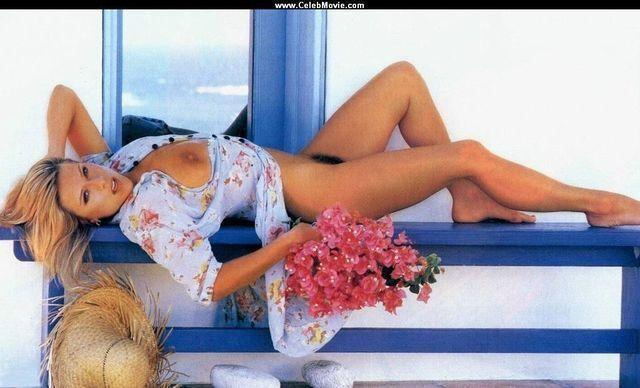 models Samantha Fox 21 years barefaced picture beach