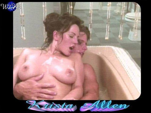 actress Krista Allen 21 years tits pics beach