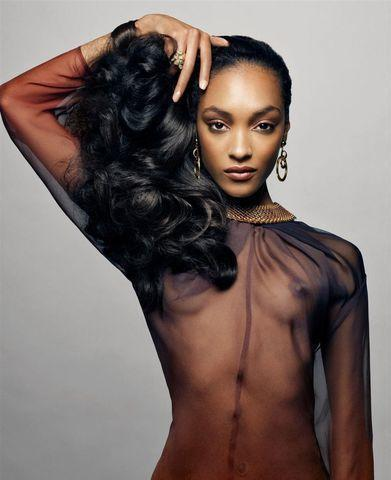 actress Jourdan Dunn 25 years laid bare art in public