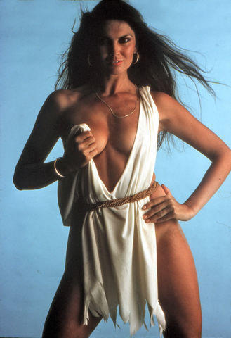 actress Caroline Munro 20 years swimming suit image in the club