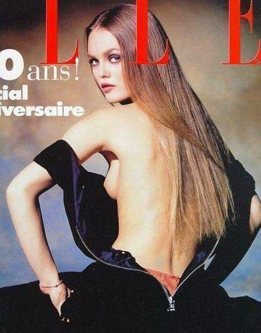 celebritie Vanessa Paradis 18 years spicy picture home