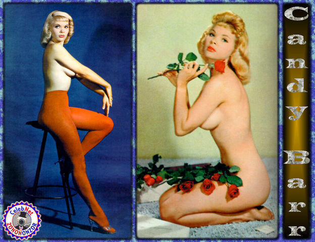 celebritie Candy Barr 25 years nude art picture in public