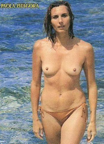 actress Paola Pitagora 21 years crude snapshot in public