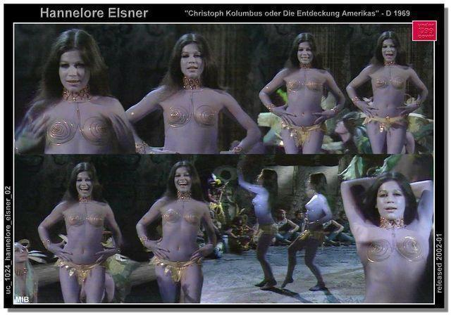 actress Hannelore Elsner 24 years Without panties art beach
