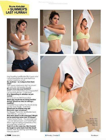 models Bruna Abdullah 23 years lascivious photos home
