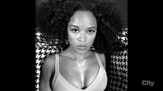 models Serayah McNeill 21 years sensuous picture home