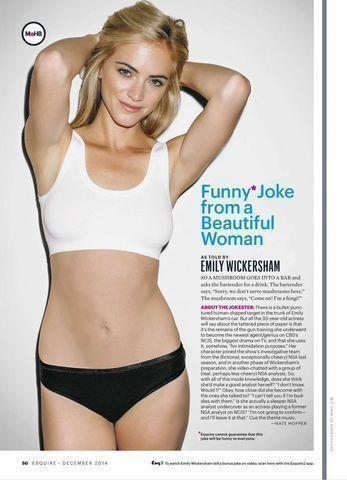 celebritie Emily Wickersham 21 years Without panties photoshoot in public
