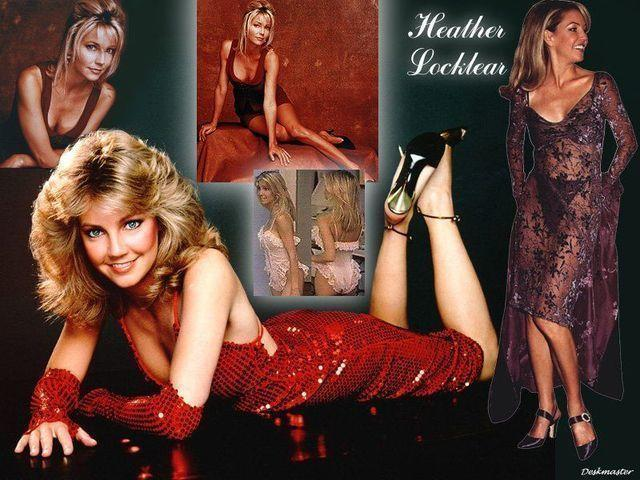 celebritie Heather Locklear 24 years in the altogether photography beach