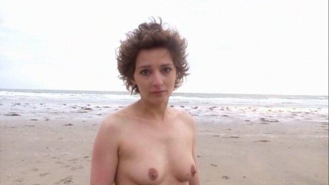 actress Caroline Demangel 20 years Without brassiere foto home