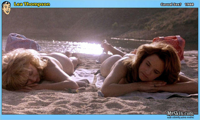 actress Lea Thompson 21 years Without brassiere photoshoot beach
