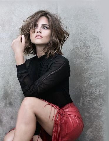 actress Jenna-Louise Coleman 20 years lascivious image in public