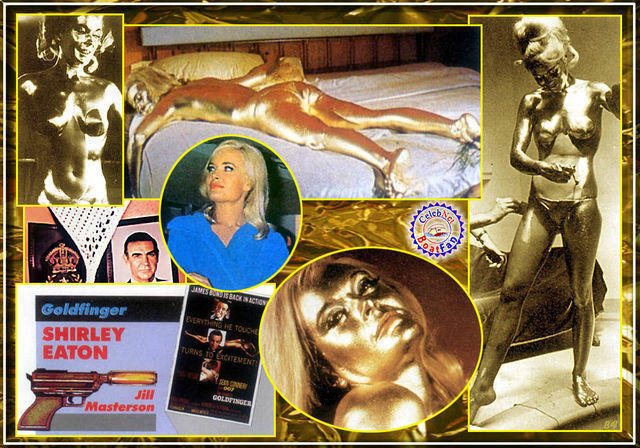 celebritie Shirley Eaton 25 years unclothed snapshot in the club