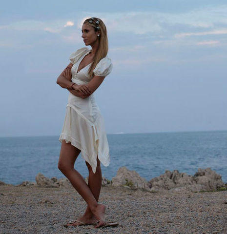 actress Aleksandra Melnichenko 2015 Without brassiere photography beach